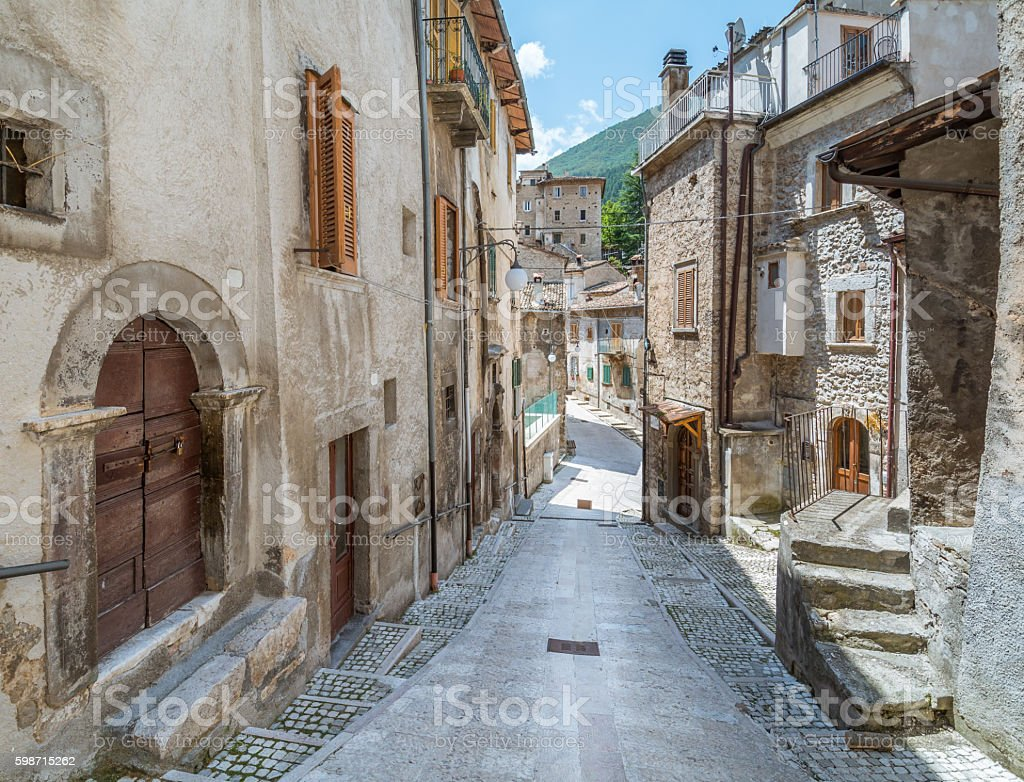 Scanno, L'Aquila Province, Abruzzo (Italy) stock photo