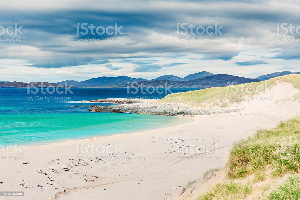 Scarasta beach, Lewis and Harris, Scotland stock photo