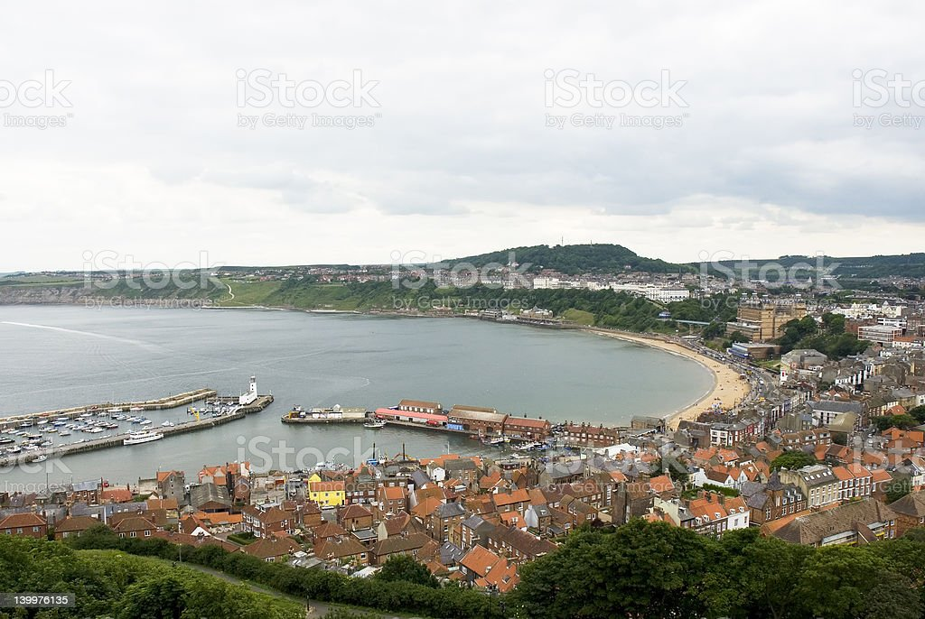 Scarborough Bay stock photo