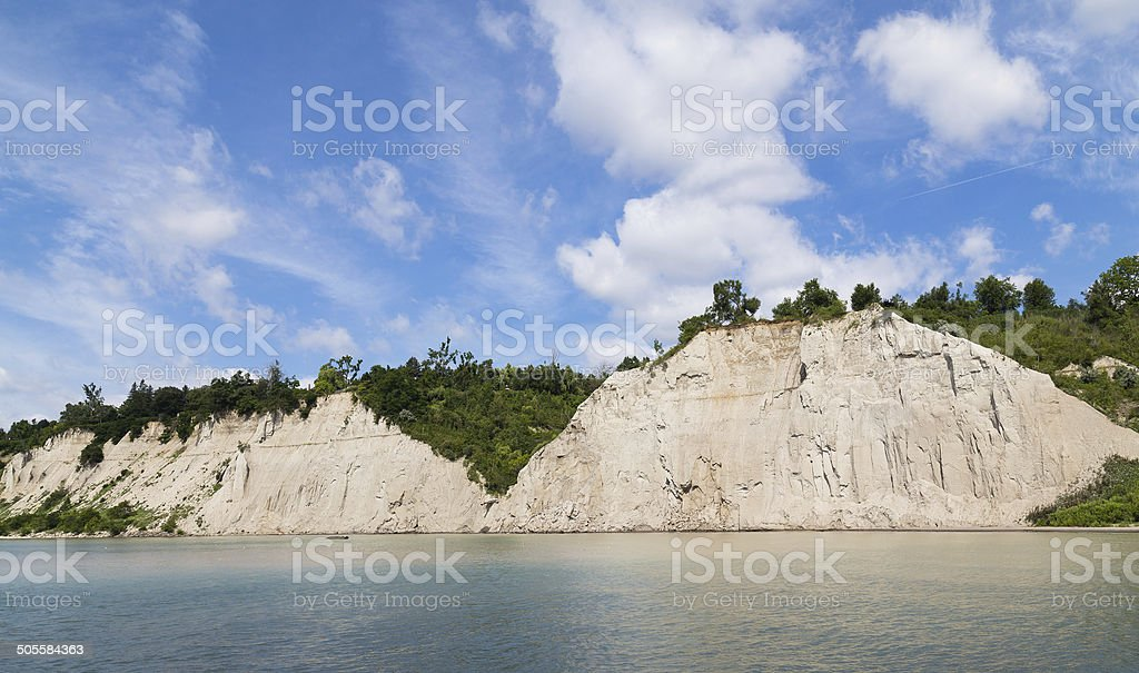 Scarborough Bluffs Cliffs stock photo