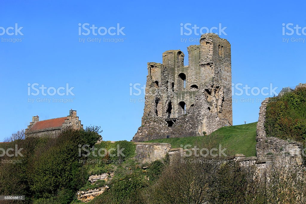 Scarborough Castle Keep stock photo