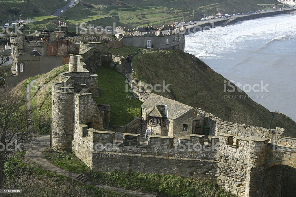 Scarborough Castle stock photo
