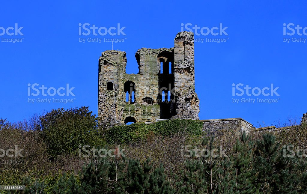 Scarborough Castle Ruins stock photo