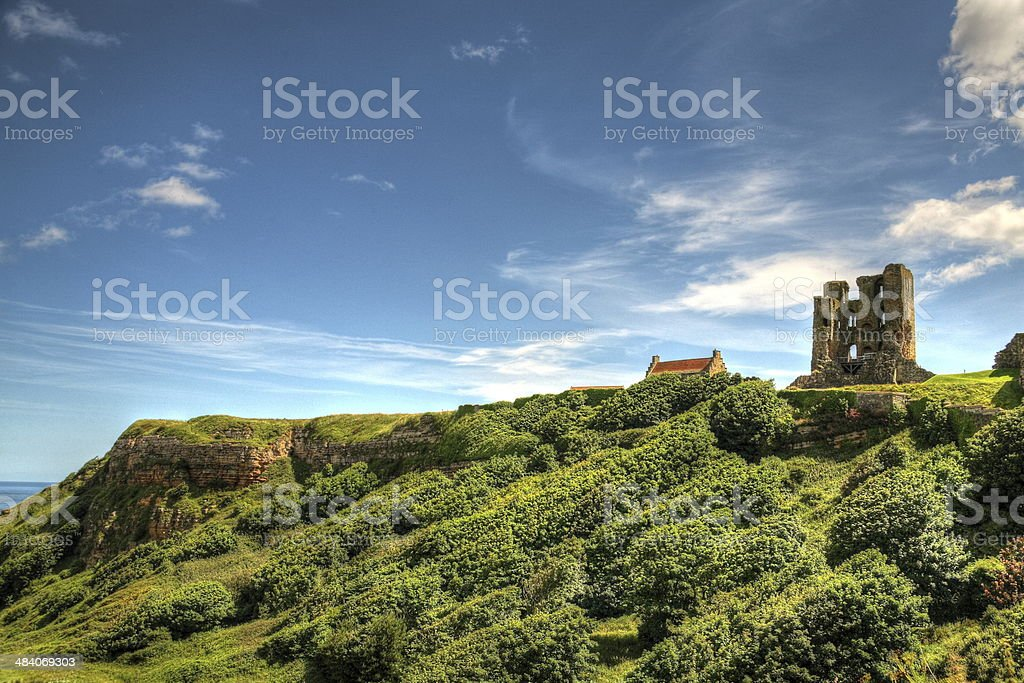 Scarborough Castle, UK. stock photo