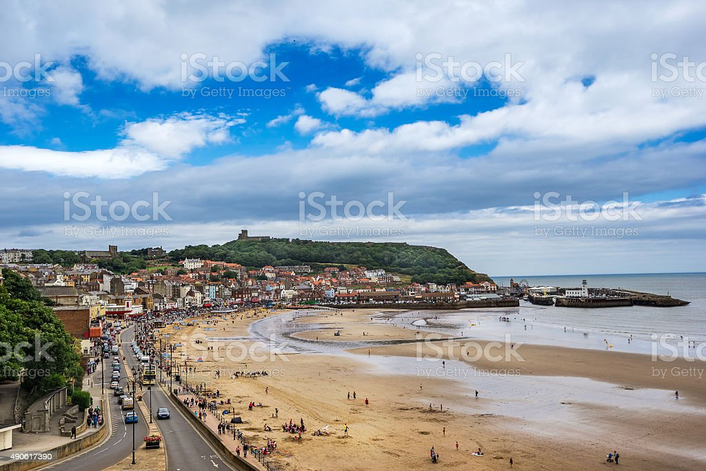 Scarborough in North yorkshire stock photo