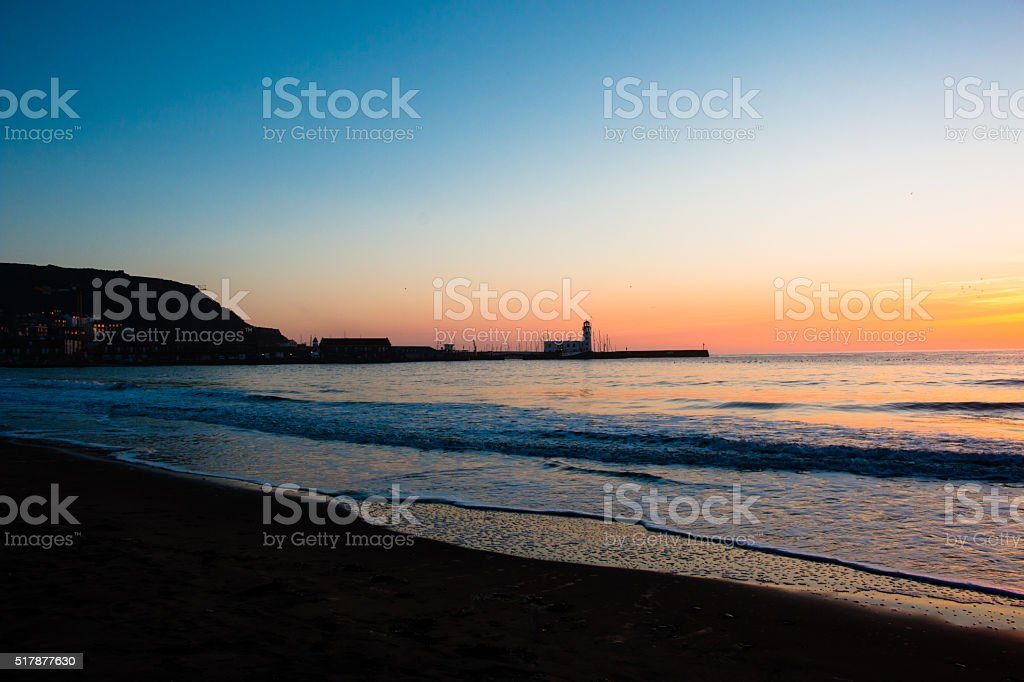 Scarborough Lighthouse stock photo