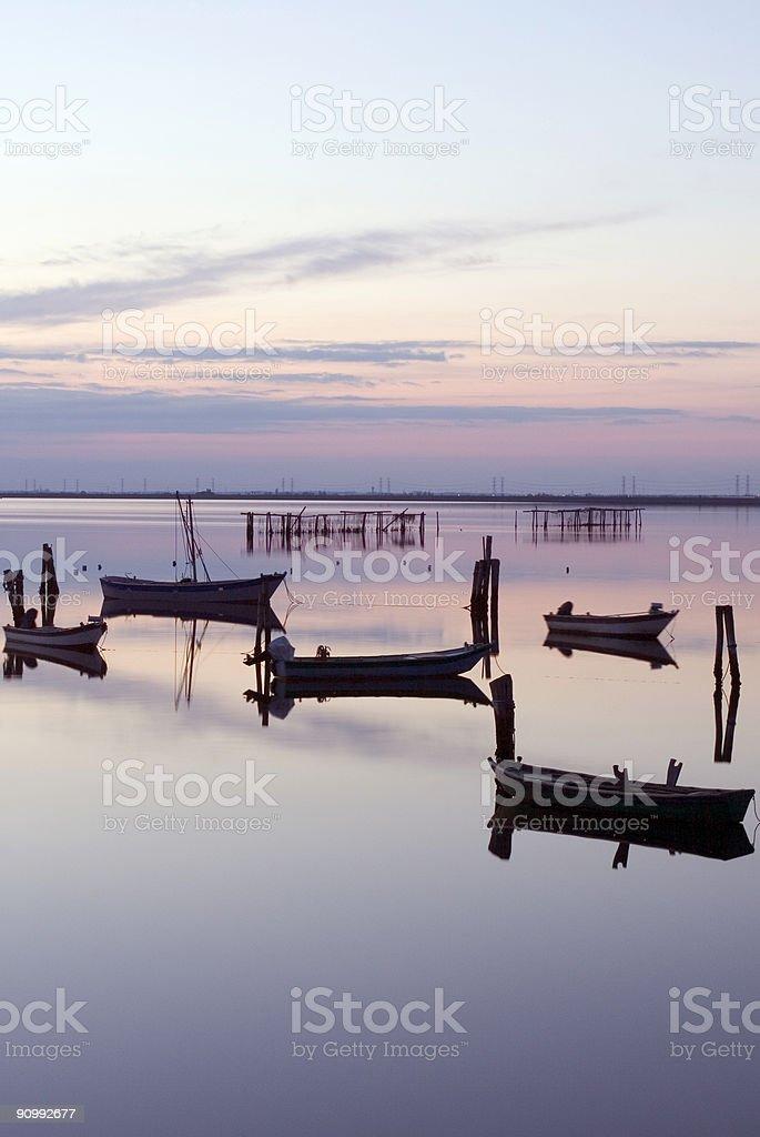 Scardovari sunset colors royalty-free stock photo