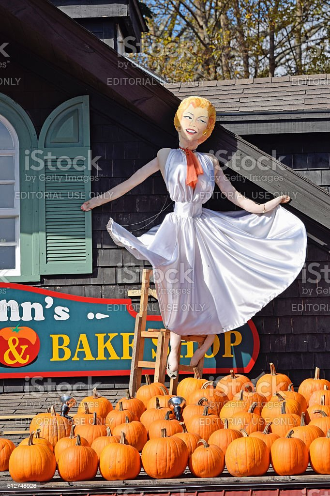 Scarecrow festival, Mahone Bay, Canada stock photo