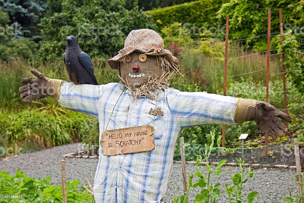 Scarecrow in Pollok Park stock photo