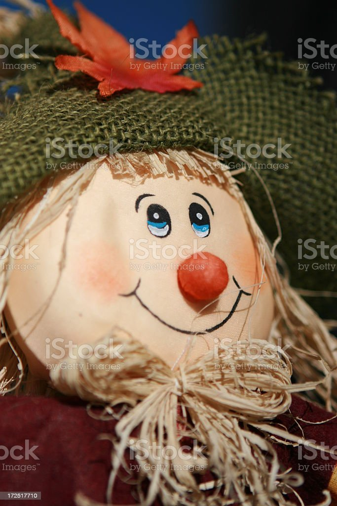 Scarecrow in the Fall royalty-free stock photo