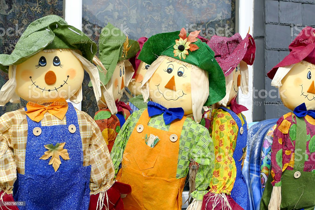 Scarecrows. stock photo