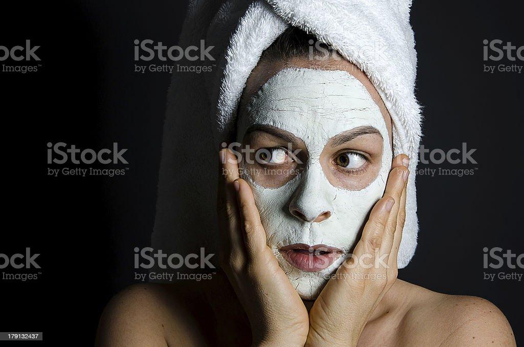 Scared Beauty Mask royalty-free stock photo