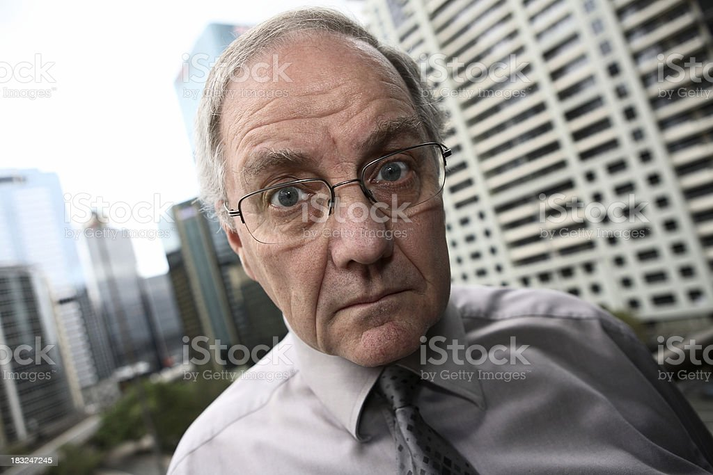Scared Businessman royalty-free stock photo