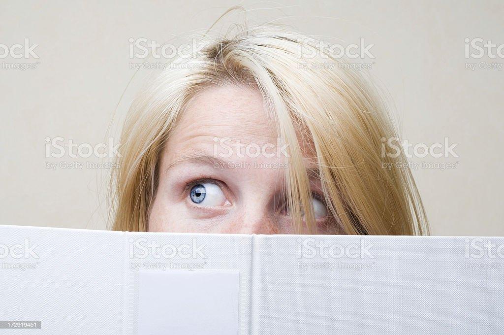 Scared employee royalty-free stock photo