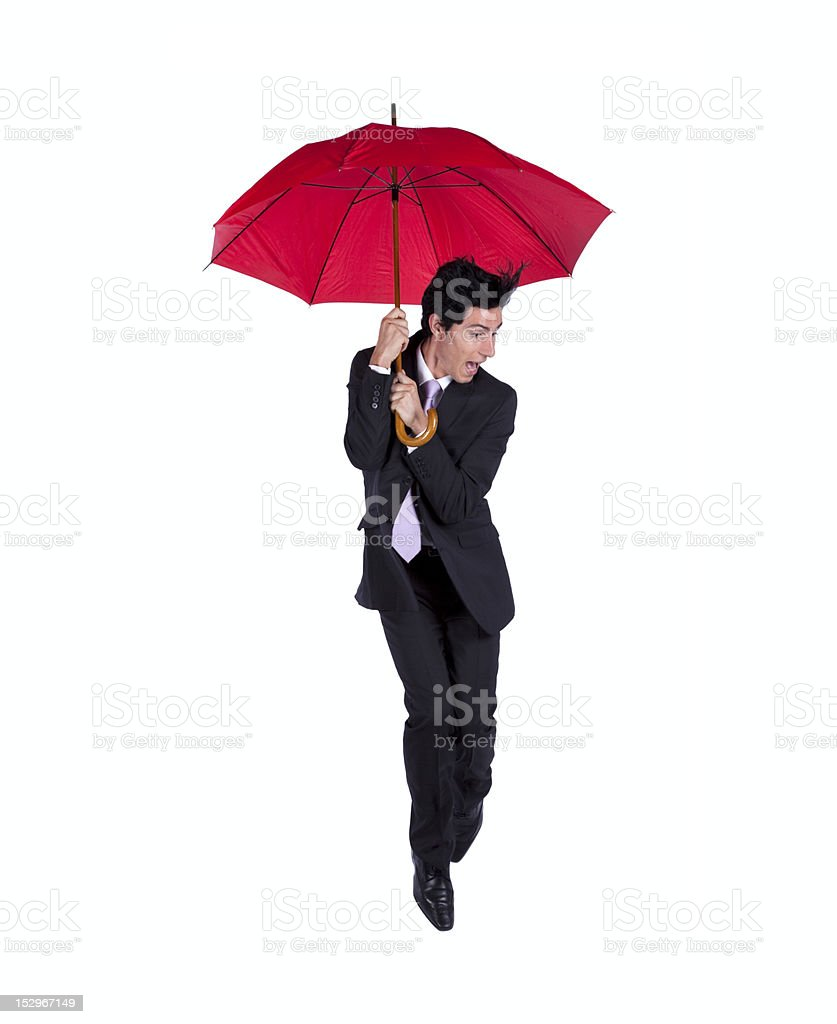 Scared insurance agent royalty-free stock photo