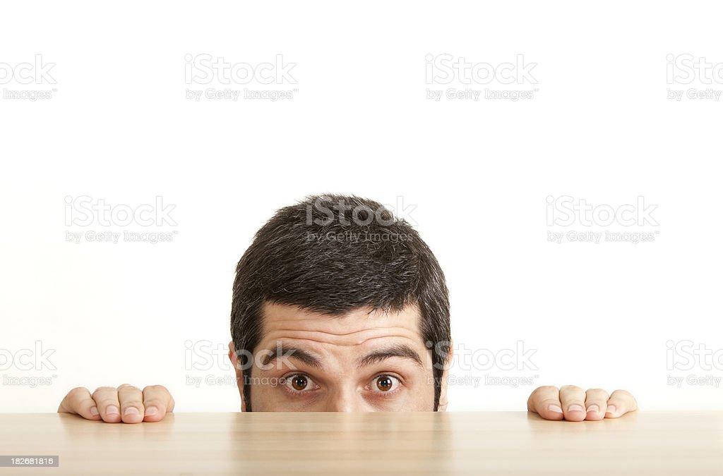 Scared Man royalty-free stock photo