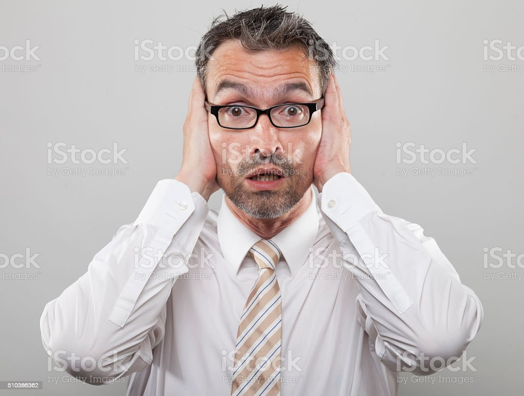 Scared Manager stock photo