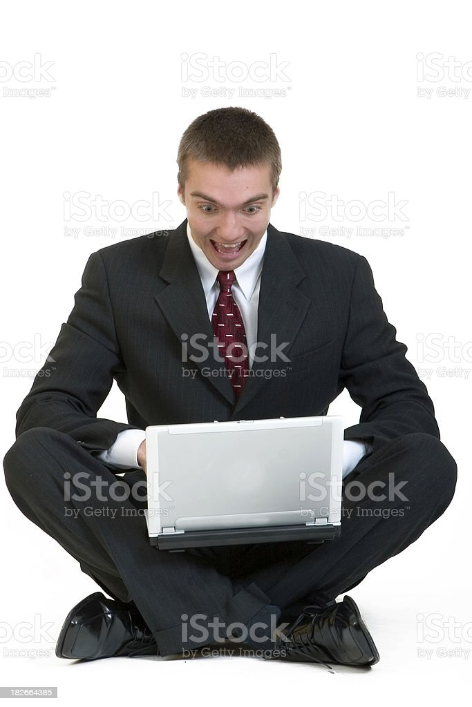 Scared of Internet royalty-free stock photo