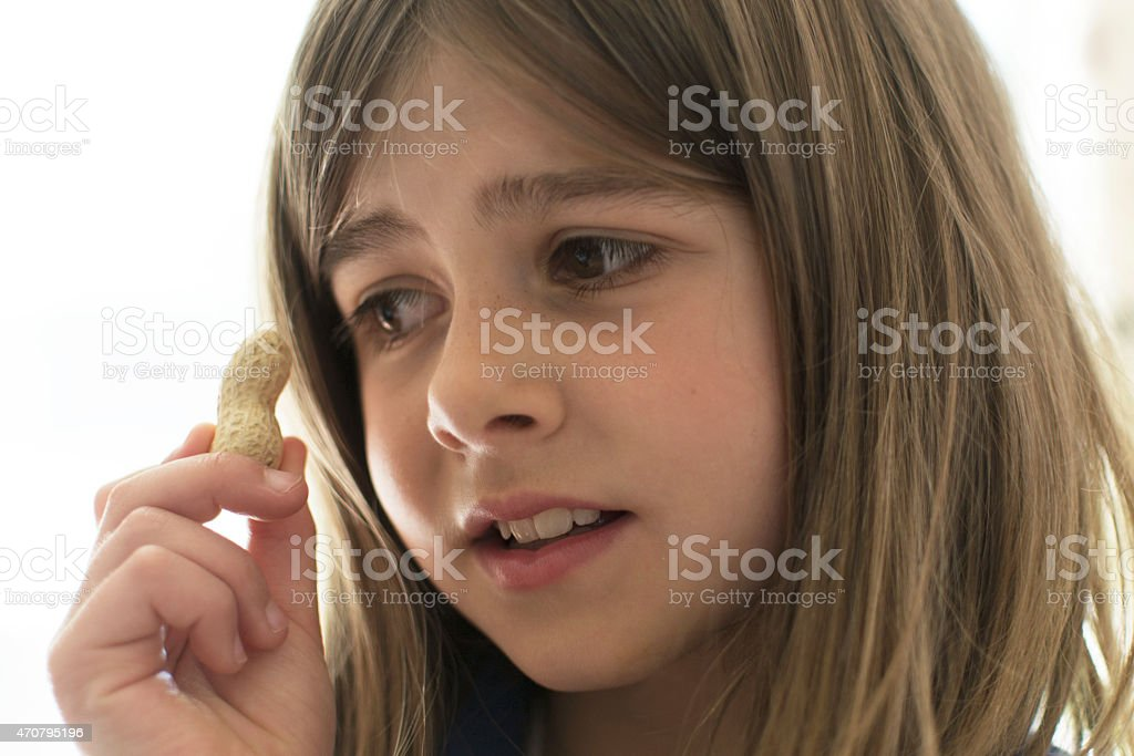 Scared of nuts stock photo