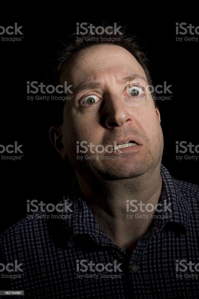 Scared of the dark stock photo