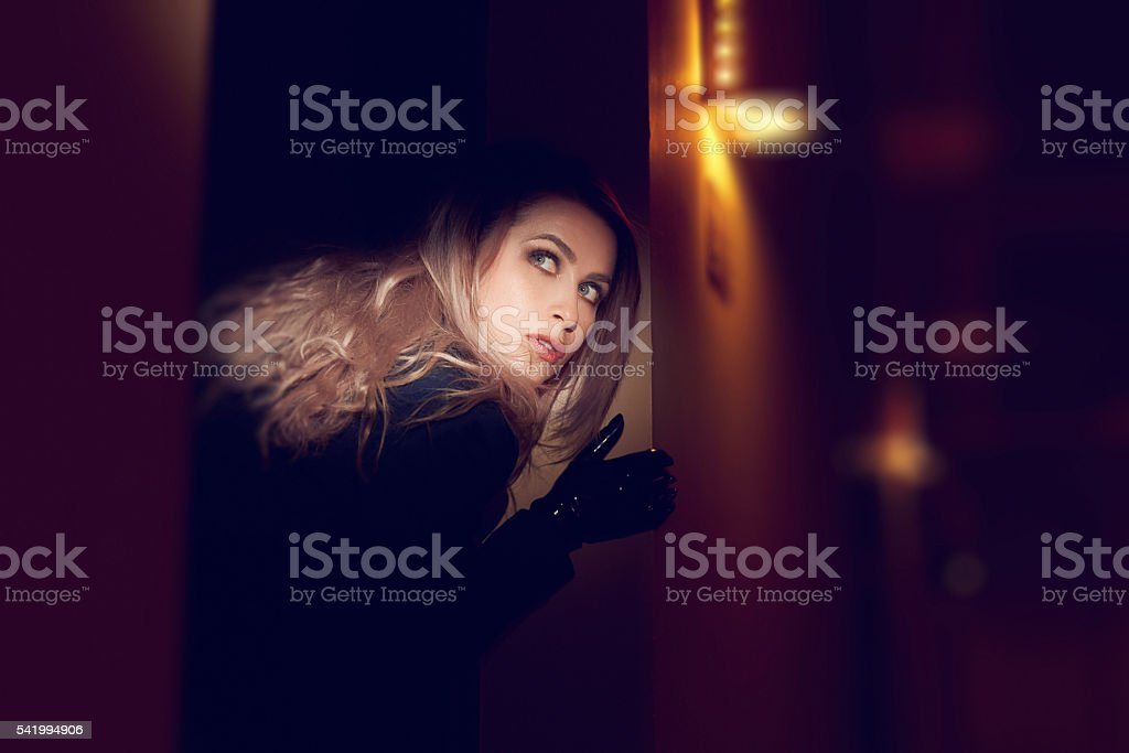 scared of you, trying to escape stock photo