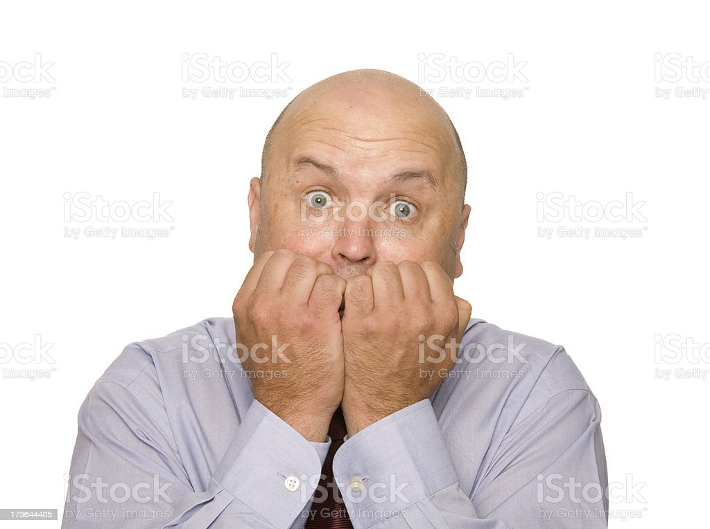 Scared royalty-free stock photo