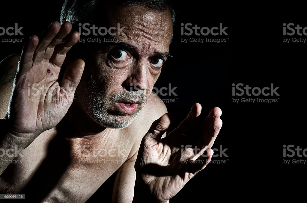 Scared. stock photo