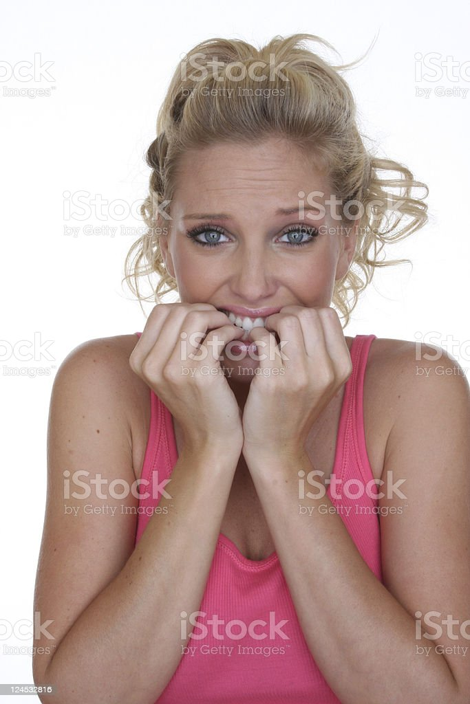 scared silly! royalty-free stock photo
