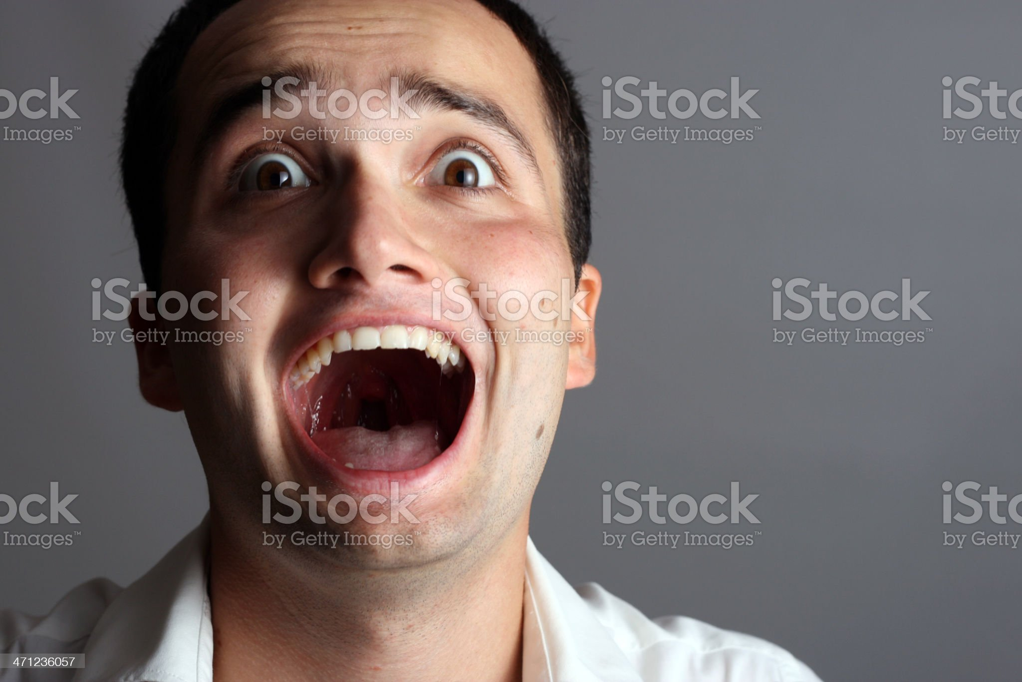 Scared / Surprised Young Man royalty-free stock photo