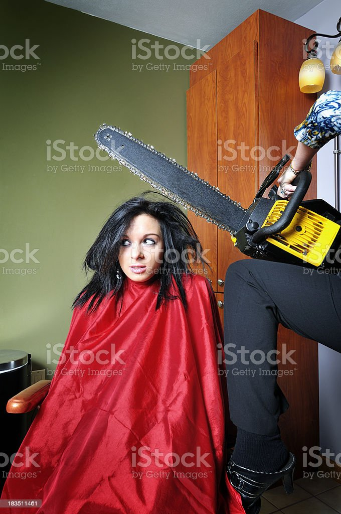 Revving Up for a Haircut stock photo