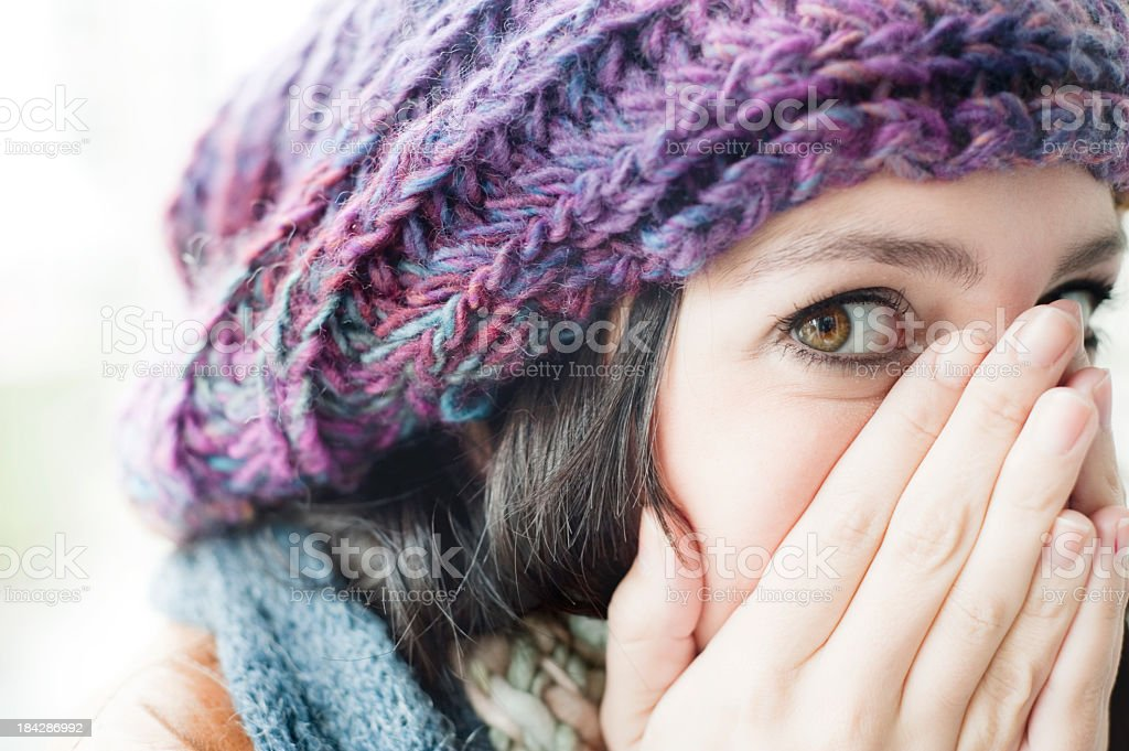 Scared Young Woman. royalty-free stock photo