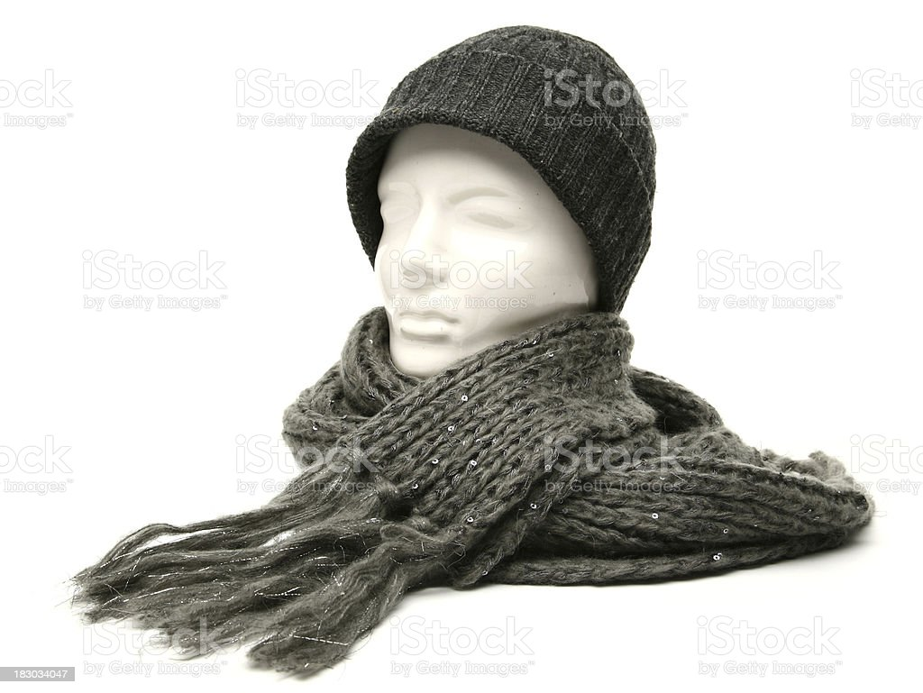 scarf and cap royalty-free stock photo