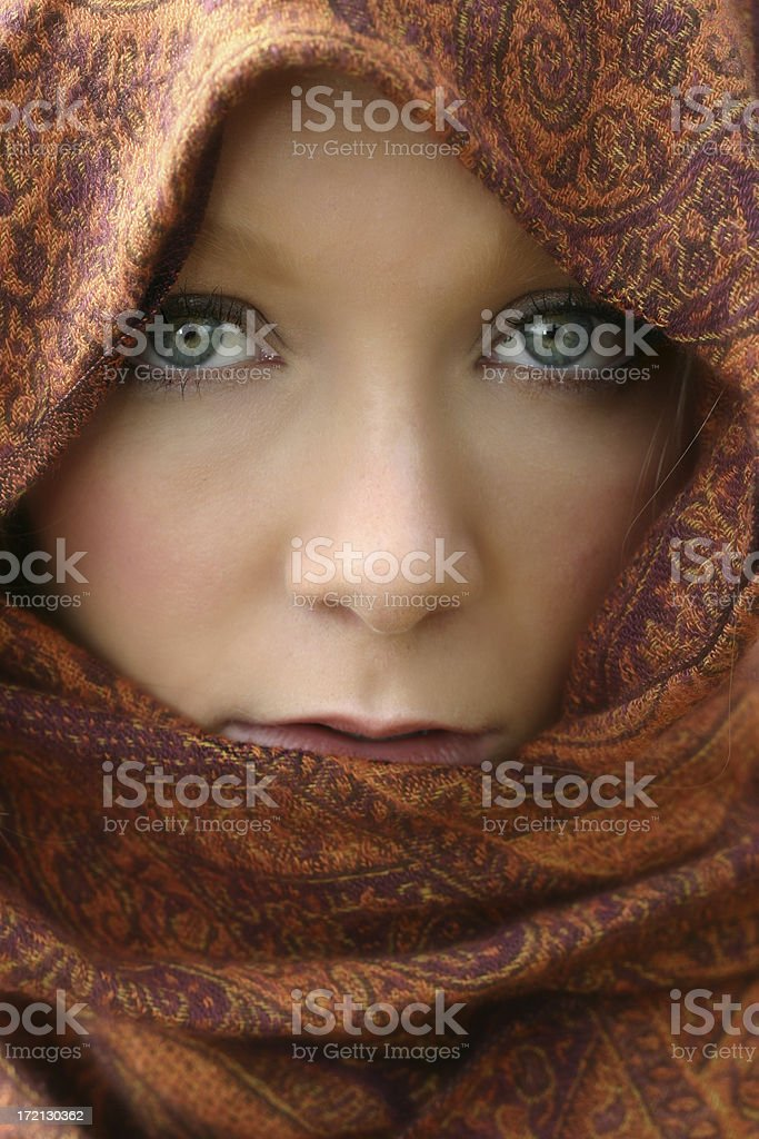 Scarf and Eyes royalty-free stock photo