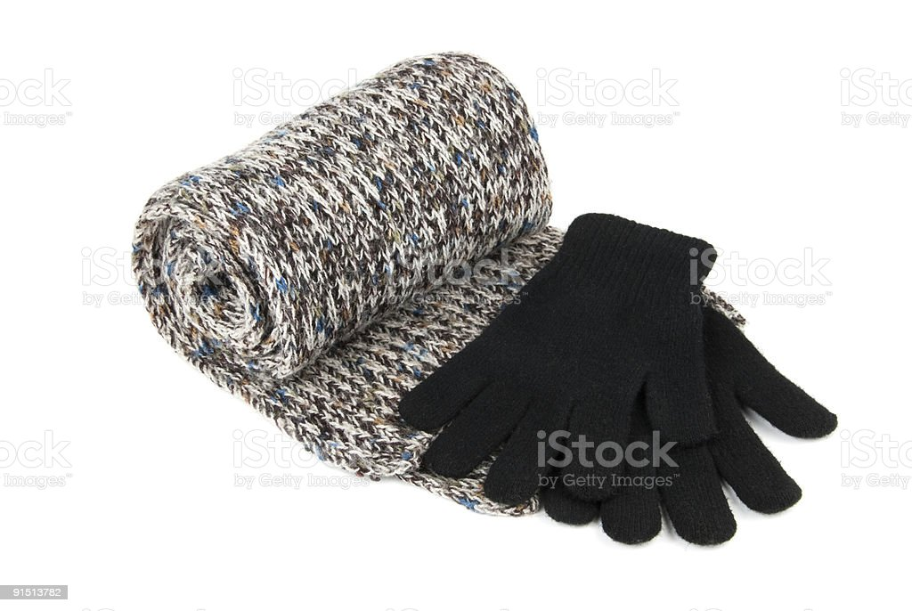Scarf and gloves royalty-free stock photo