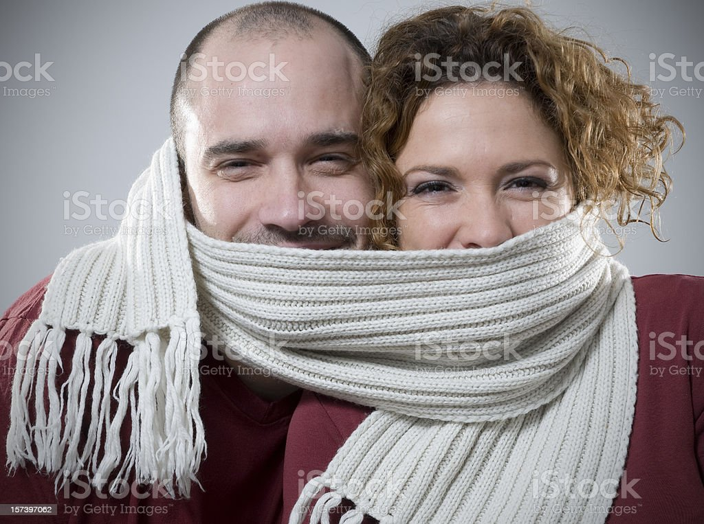 scarf for two royalty-free stock photo