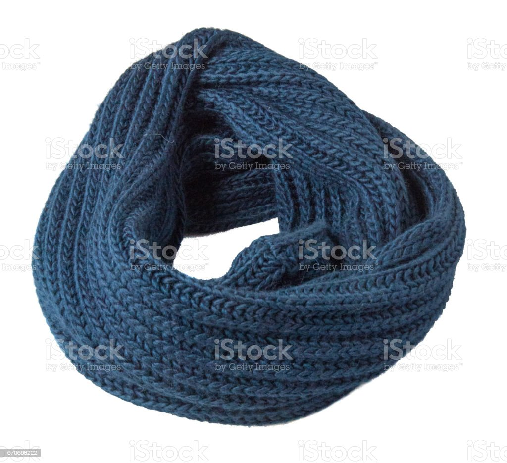 Scarf isolated on white background.Scarf  top view .blue scarf stock photo