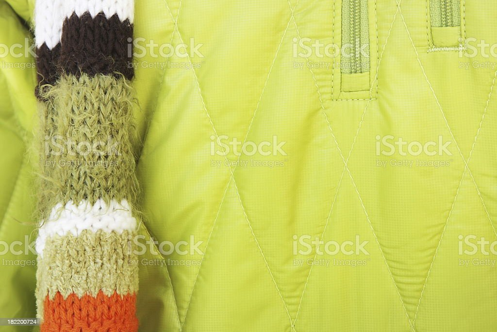 Scarf Knit Fashion Jacket Clothing royalty-free stock photo
