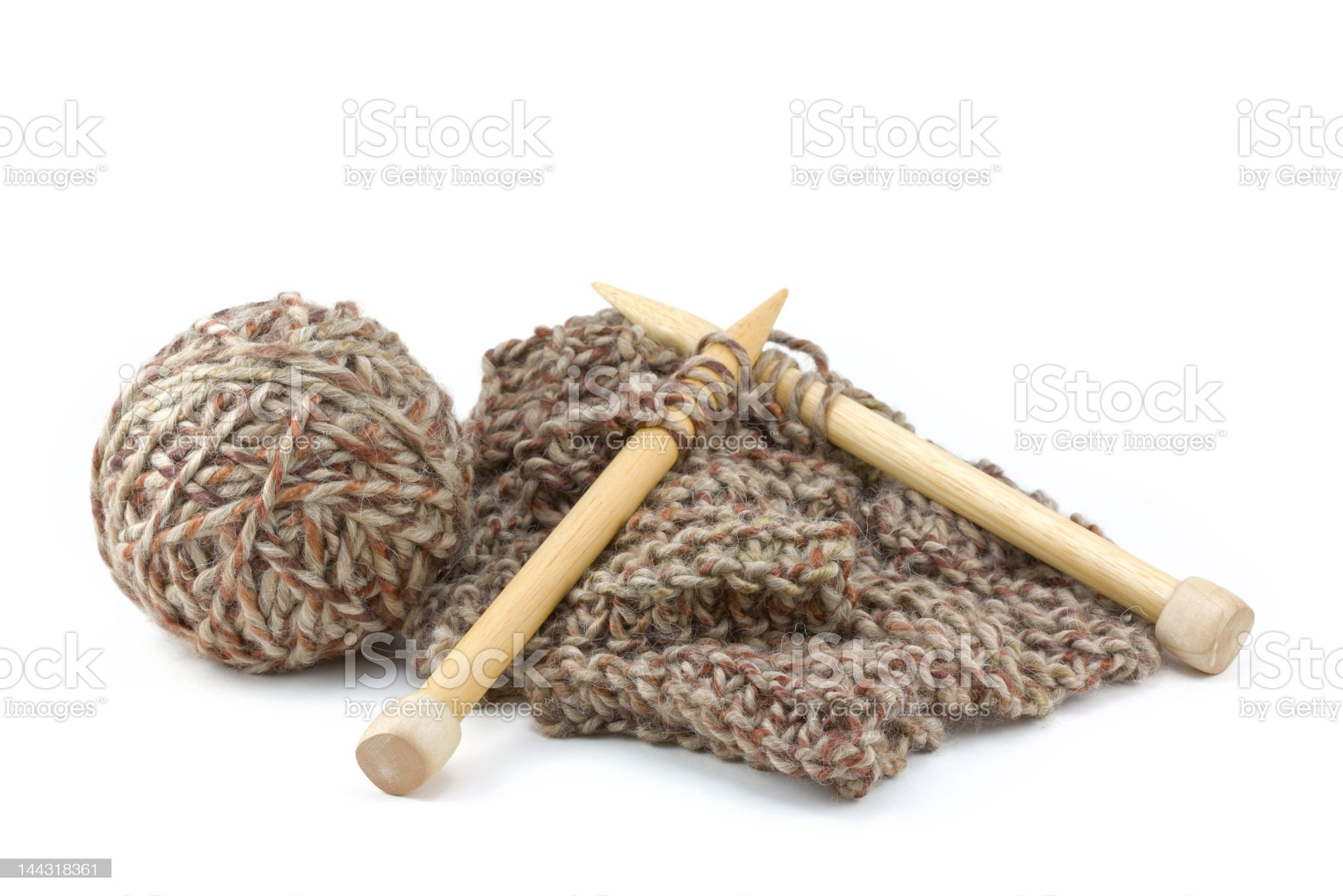 Scarf Knitting Project royalty-free stock photo