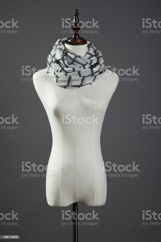 Scarf mannequin stock photo