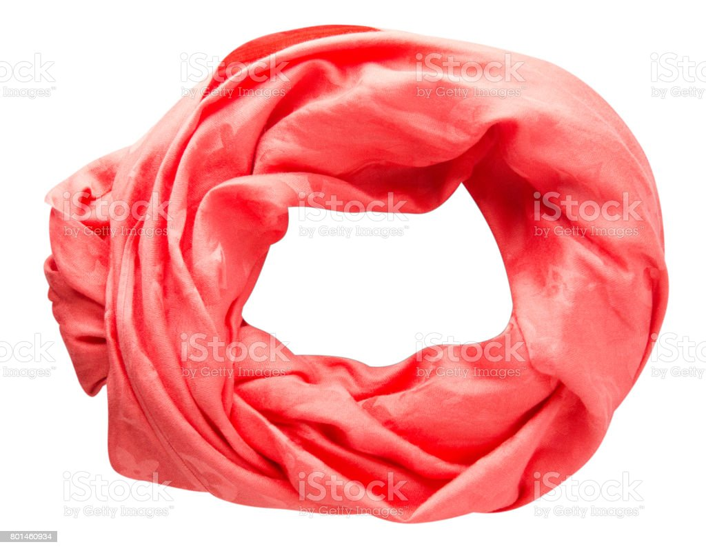 scarf summer. multicolored scarf. Scarf top view stock photo