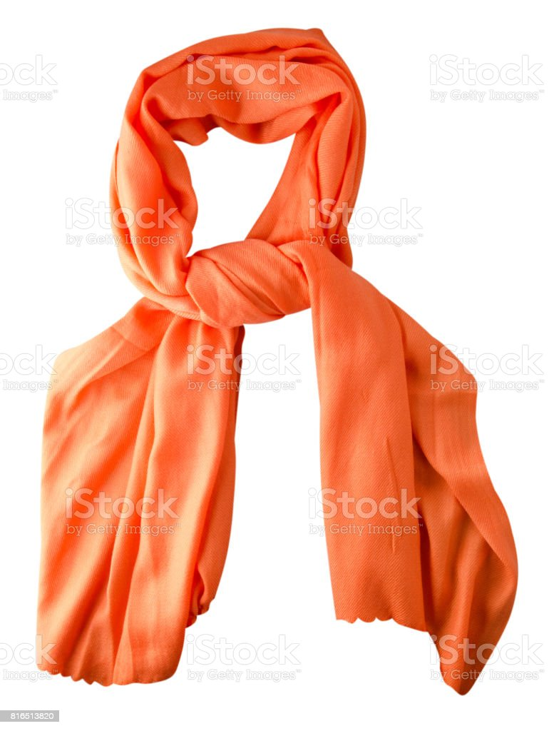 scarf summer. multicolored scarf. Scarf top view.Orange scarf stock photo