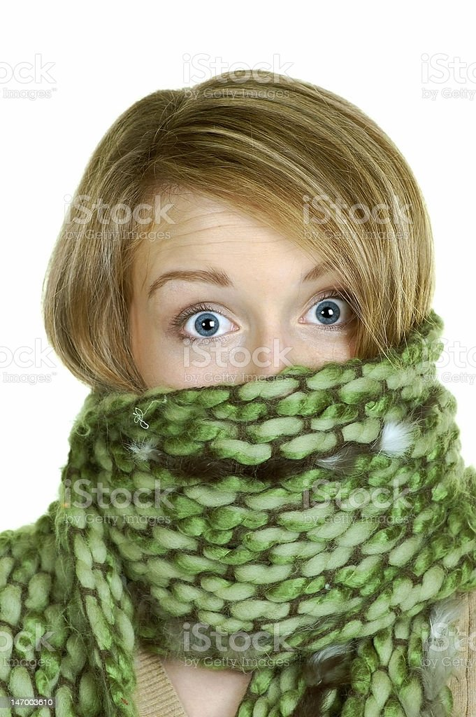 Scarf Surprise royalty-free stock photo