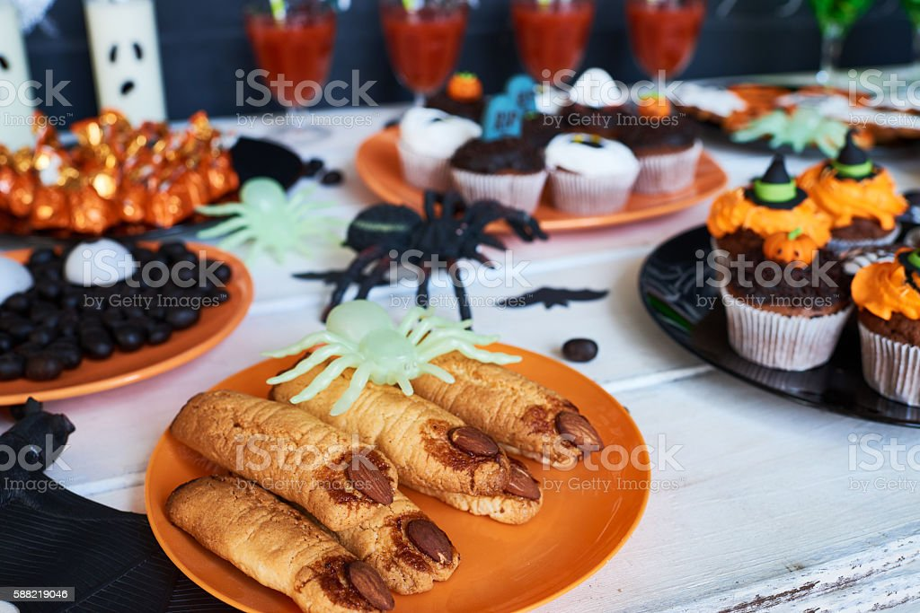 Scaring cookies stock photo