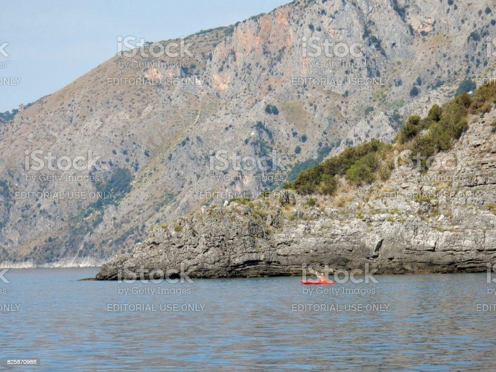 Scario - Canoa a Punta Spinosa stock photo