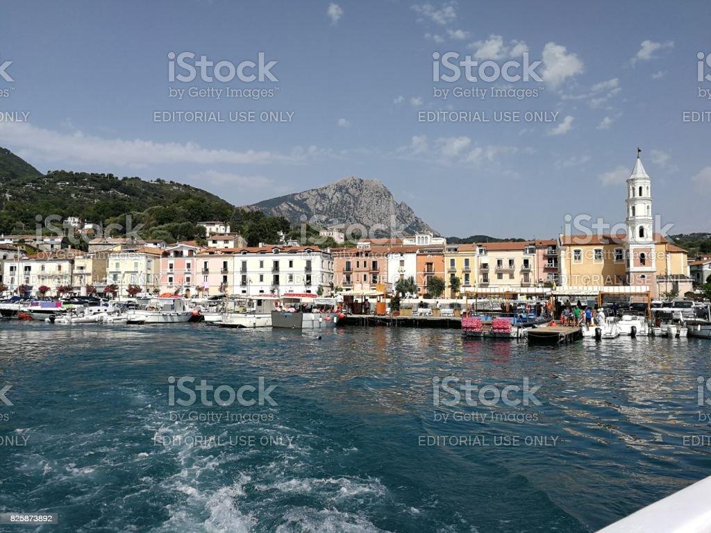 Scario - Panorama dalla barca stock photo
