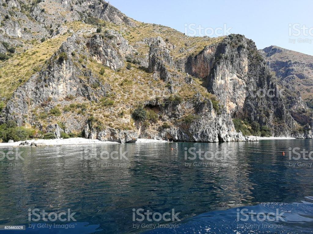 Scario - Spiagge dei Francesi e della Risima stock photo