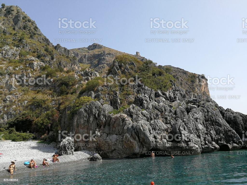 Scario - Spiaggia della Sciabica stock photo