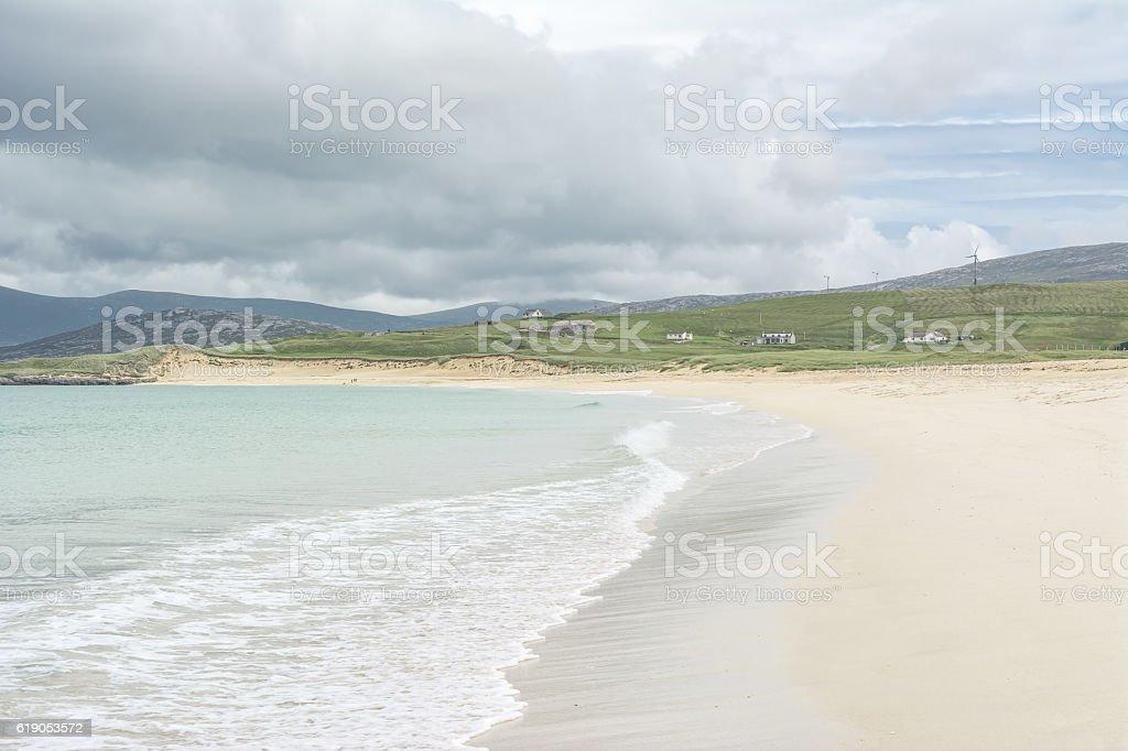 Scarista Beach on the Isle of Harris, Sotland stock photo