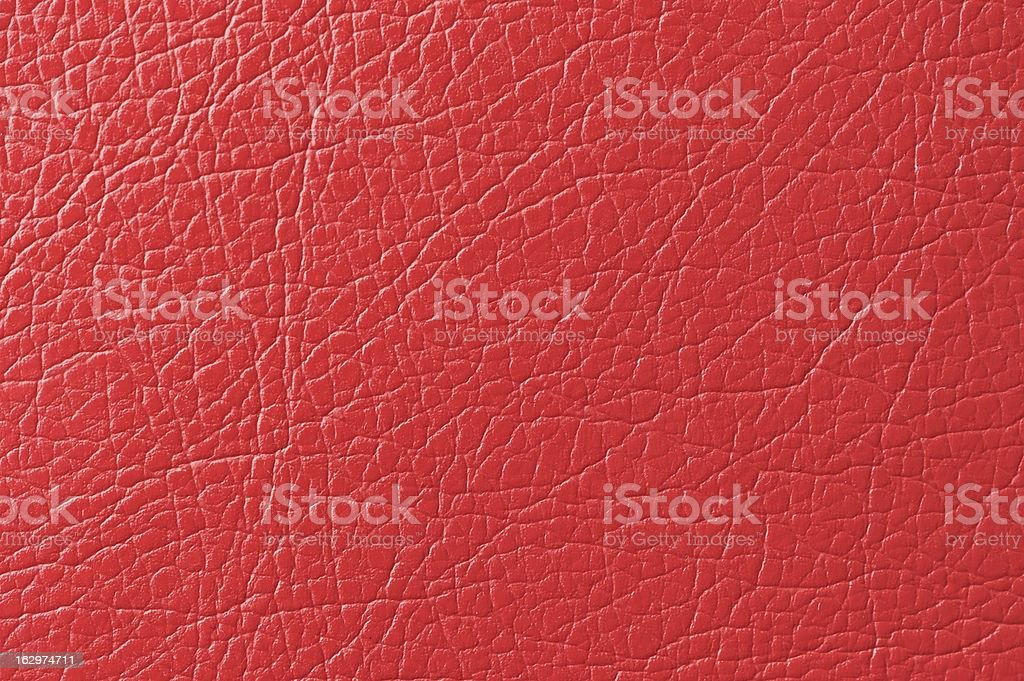 Scarlet Red Faux Leather Texture royalty-free stock photo