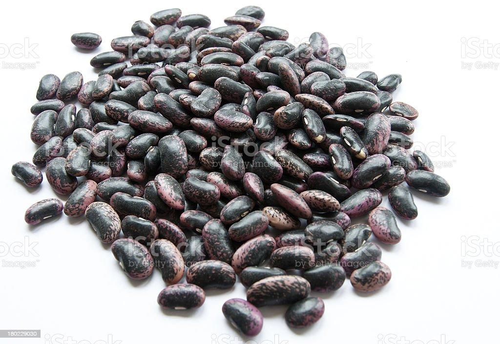 Scarlet runner bean seeds stock photo
